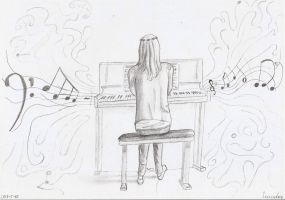 the pianist by kedrednael