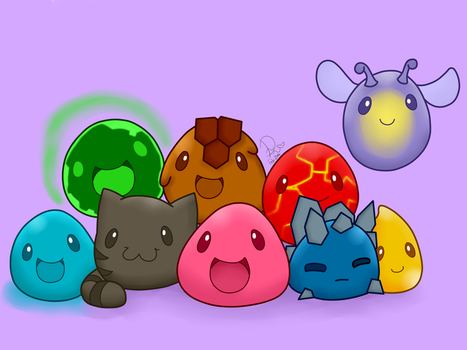 Slimes [Slime Rancher] [Speedpaint] by Domenica-chan999