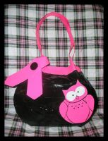 Pink Owl Purse by DuckTapeBandit