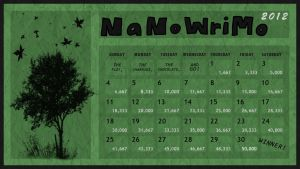 Tree Green NaNoWriMo Calendar by Margie22