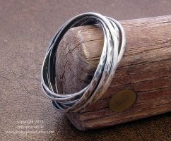 Fully Interlocking / Nesting Ring by indyspireArt