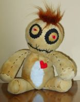15' Plush Voodoo Doll by GhoulieDollies