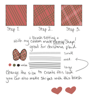 holiday plaid - sai brush by monochromance