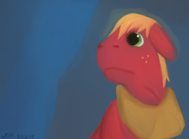 Sad big macintosh by attackdog1000