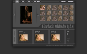 Edvard Nalbantjan Website by brankovukelic