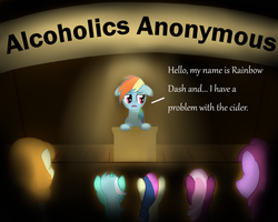 Rainbow Dash's problem by monteruis