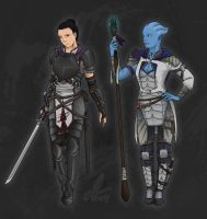 Fantasy Mass Effect Concept by canius