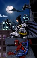 Batman Spiderman by Godsartist