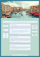 Blogspot template Wenecja by MySensitiveHeart
