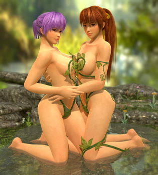 Ayane n Kasumi Forest Water (Toolbag) by RadiantEld