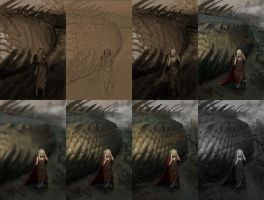 The glance of Glaurung. Stages by AlexeyRudikov