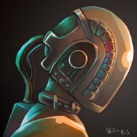 Daft Punk Head by happip