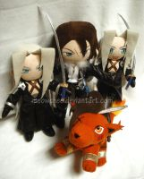 Final Fantasy Plushies galore by Meowchee
