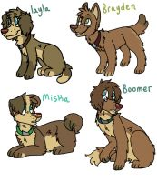 Indiana x Bang pups! by capttain