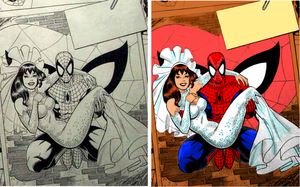 Spidey Wedding Before n After by Gwhitmore