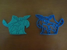Glaceon Cookie Cutter by B2Squared