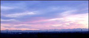 Munich Sunset - Panorama by Tienna