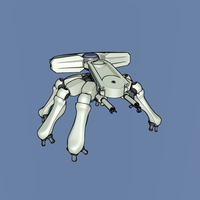 Ghost in the shell, walking tank by EverlastingAbyss