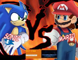 Sonic V.S Mario who will win? by ss2sonic