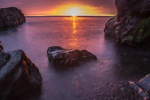 Sun on the rocks by Wanowicz