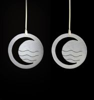 Water Tribe Earrings by obsidiandevil