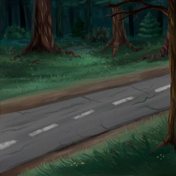 Old road by KamoFalcon