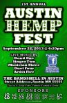 Submission for poster design contest - AM Hempfest by DancehallDesigns