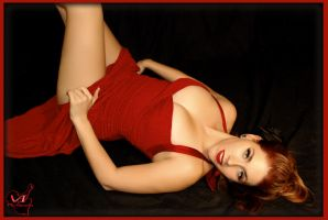 lady in red by VintageImagery
