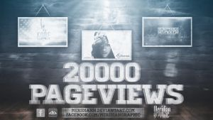 20000 PAGEVIEWS by Meridiann