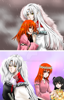 Sesshomaru and Hikari by shrimpHEBY