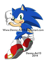 Sonic The Hedgehog by Denny-Art13