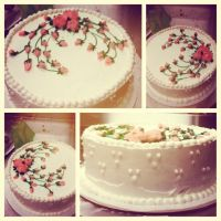 Rose Garden Cake by LightenKnight123