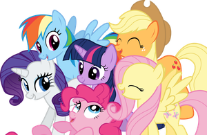 Mane 6 Group Vector by Fehlung