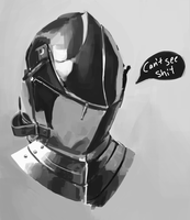 metal face hat by Irongasm