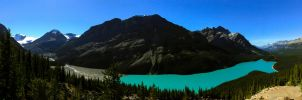 Peyto Lake Pano by KRHPhotography