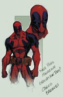 Deadpool by Barberi QuickPaint by Ross-A-Campbell