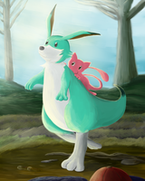 A Mew-ey on a Rooey by Mewscaper