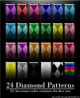 24 Diamond Patterns by EriUri