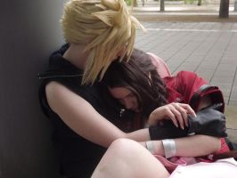 I'll never let you go - Cloud Aerith by FuriaeTheGoddess