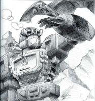 Soundwave and Laserbeak by anubis2kx