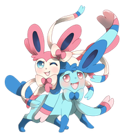 Sylveons by PinkGermy