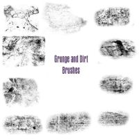 Grunge and Dirt brushes by Nefariousperson