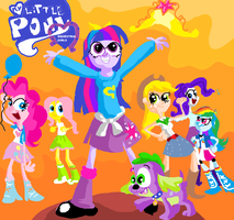 Equestria Girls title card by seriousdog