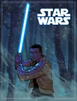 Finn Star wars the force awakens by JoeyVazquez