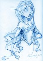 Mermaid sketch by MiraElizabeth