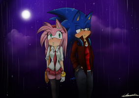 sonamy -walk in the rain by Klaudy-na