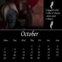 Drow Calendar 09 - Oct by Umrae-Thara