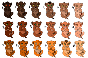 Lion cub adoptables 4 **ONE LEFT!!* by MissBrink