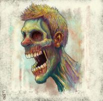 angry person by EdwardDelandreArt