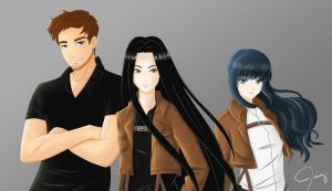 SnK OCs: Anders, Ezra and Isla by Frappe7